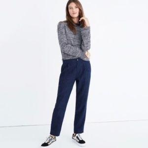 Madewell Track Trousers Navy Blue Pinstripe Medium